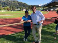 Leichtathletik-Sportwart Elisabeth Bildstein organisierte das 1. Rudi Sturm-Gedenkmeeting, Stadtrat Thoma dankte im Namen der Stadt Bludenz.